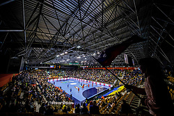 Arena during handball match between National teams of Slovenia and Netherlands in Qualifications of 2020 Men's EHF EURO, on April 14, 2019, in Arena Zlatorog, Celje, Slovenia. Photo by Vid Ponikvar / Sportida