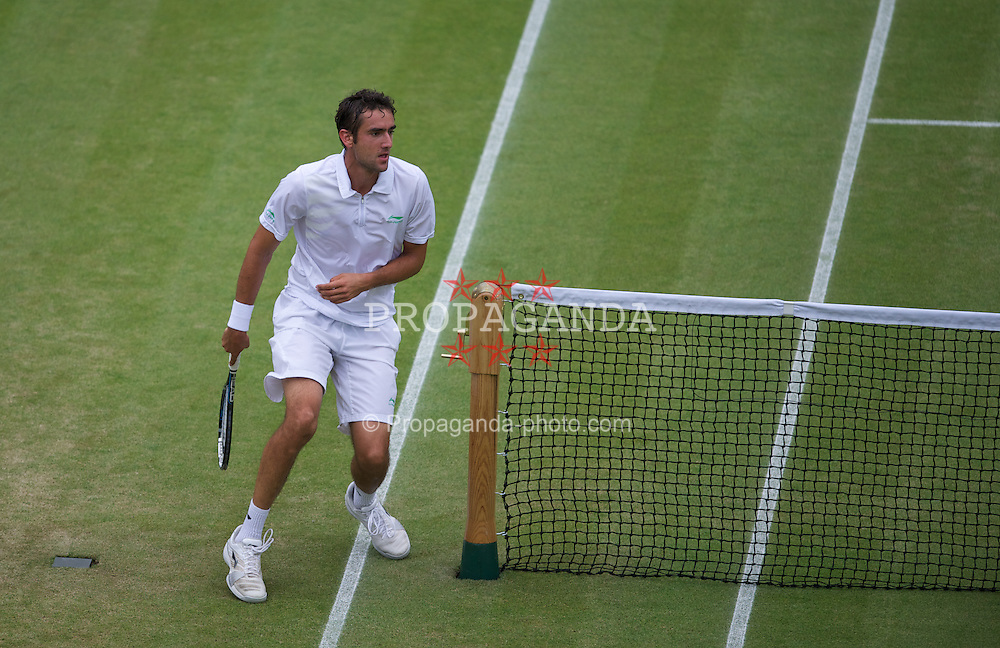 LONDON, ENGLAND - Monday, July 2, 2012: Marin Cilic (CRO) during the Gentlemen's Singles 4th Round match on day seven of the Wimbledon Lawn Tennis Championships at the All England Lawn Tennis and Croquet Club. (Pic by David Rawcliffe/Propaganda)