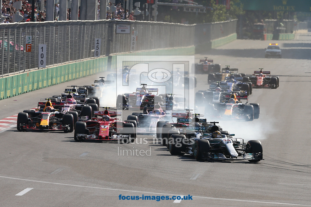 The start of the Azerbaijan Formula One Grand Prix at Baku City Circuit, Baku<br /> Picture by EXPA Pictures/Focus Images Ltd 07814482222<br /> 25/06/2017<br /> *** UK & IRELAND ONLY ***<br /> <br /> EXPA-EIB-170625-0051.jpg