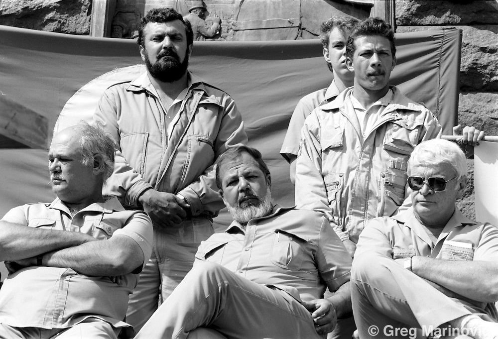 SOUTH AFRICA Sept 23, 1989: Right-wing Afrikaner Weerstandsbeweging Leader Eugene Terre'Blanche and henchmen at Church Square in downtown Pretoria, northern Transvaal (now Limpopo Province)  (Photo by Greg Marinovich)