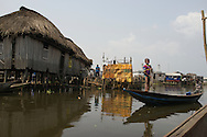 Ganvie Lake Village in Benin, West Africa is very often dubbed&sbquo; &quot;the Venice of Africa.&quot; This unique floating city is built completely on water, with the exception of a school, which is the only building set on dry land.<br />