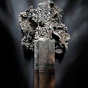 Studio product shot of a museum artifact