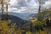 A view of the valley and Upper McDonald Creek as seen from Going to the Sun Road in Glacier National Park, Montana, Tuesday, October 7, 2014. This u-shaped valley was created by a glacier from the ice age that ended 12,000 years ago.