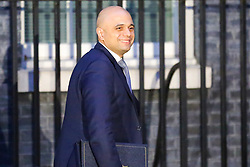© Licensed to London News Pictures. 19/11/2018. London, UK. Sajid Javid - Home Secretary leaves No 10 Downing Street just before the Christmas lights switching on ceremony after meeting the Prime Minister Theresa May. Photo credit: Dinendra Haria/LNP