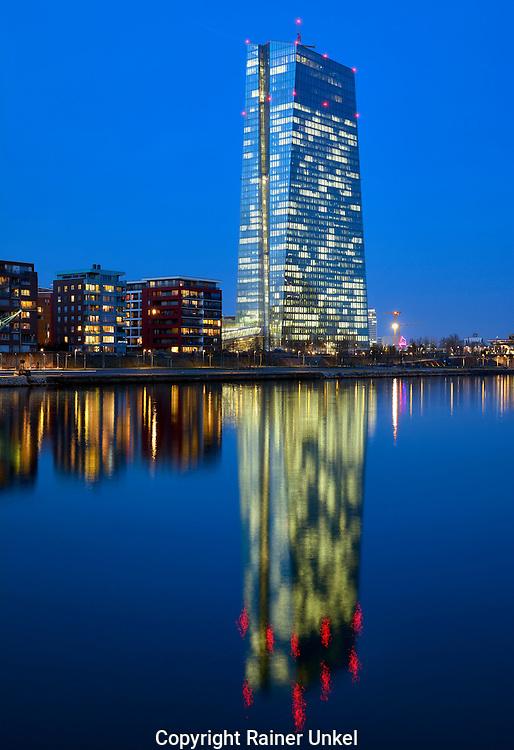 DEU , DEUTSCHLAND : Die Europaeische Zentralbank ( EZB ) in Frankfurt am Main<br /> |DEU , GERMANY : The European Central Bank ( ECB ) in Frankfurt at Main river|<br /> 09.03.2015<br /> Copyright by : Rainer UNKEL , Tel.: 0171/5457756