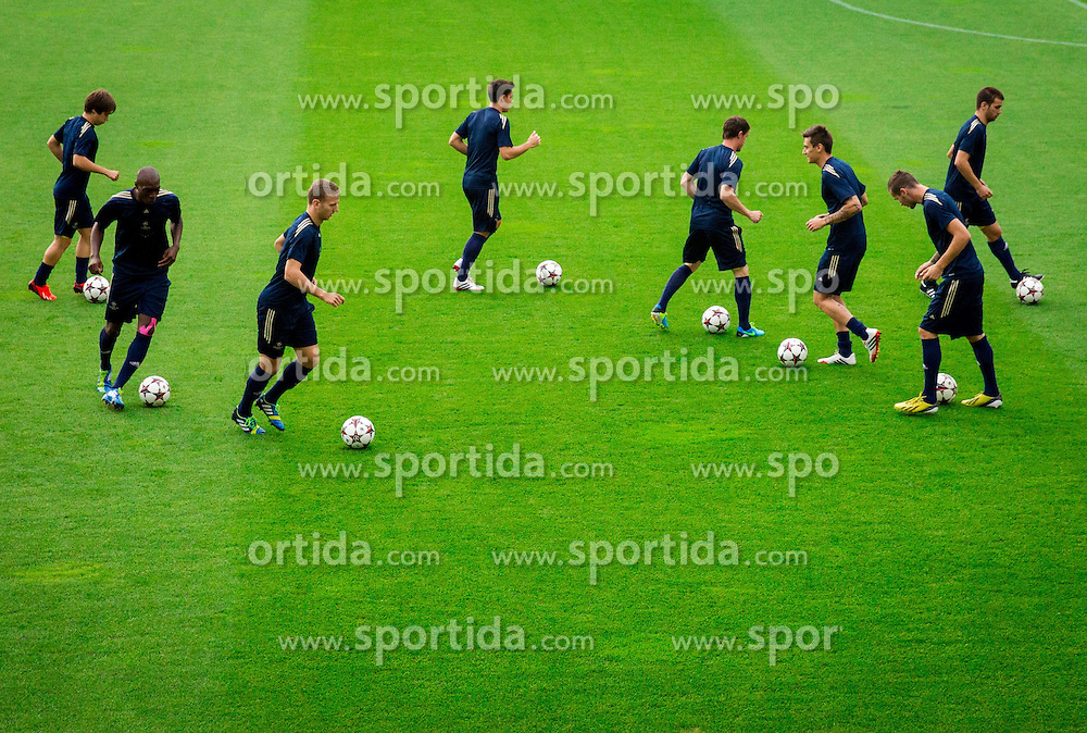 Players of Maribor during practice seasion of football team NK Maribor 1 day before of UEFA Champions League 2013/14 Play-Offs, Second Leg match on August 27, 2013 in Stadium Ljudski vrt, Maribor, Slovenia. (Photo by Vid Ponikvar / Sportida.com)