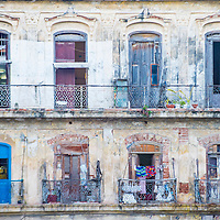 HAVANA , CUBA - JULY 18 : Architectural details in old town of Havana Cuba on July 18 2016. The historic center of Havana is UNESCO World Heritage Site since 1982.