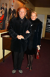 CLARA FISCHER and actor STEVEN BERKOFF at a reception to support The Hyde Park Appeal held in the Officers Mess, Household Cavalry Mounted Regiment, Hype Park Barracks, Knightsbridge, London SW1 on 30th November 2004.<br />