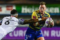Matthew Rees of Cardiff Blues is tackled by Semi Kunatani of Toulouse - Mandatory by-line: Craig Thomas/JMP - 14/01/2018 - RUGBY - BT Sport Cardiff Arms Park - Cardiff, Wales - Cardiff Blues v Toulouse - European Rugby Challenge Cup