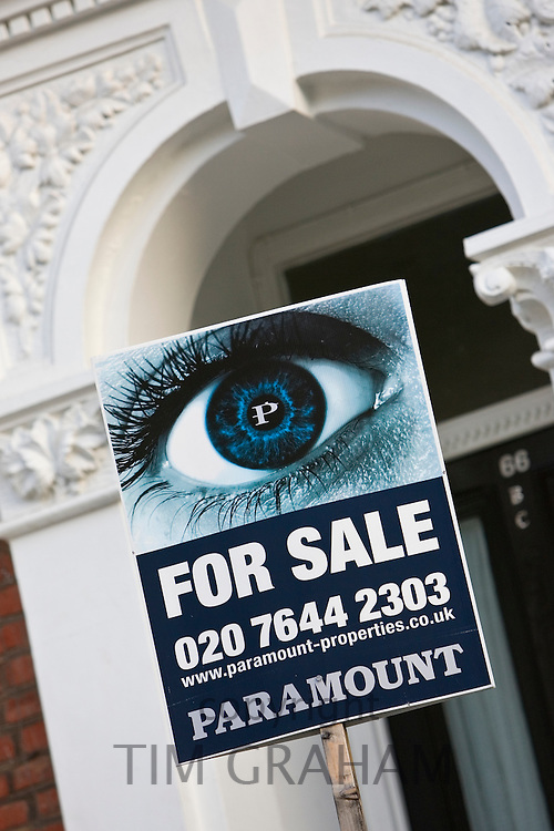 For Sale sign, West Hampstead, London, UK