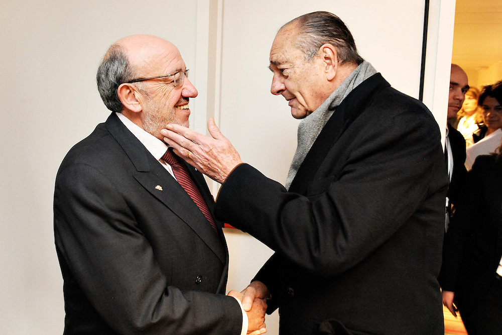 20101207 - Brussels , Belgium - European Development Days - Morning Bilaterals - Louis Michel , Co-Chair , ACP-EU Joint Parliamentary Assembly  - Jacques Chirac , Former President of France © European Union - Scorpix
