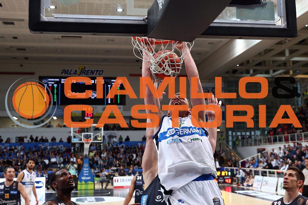 Berggren Jared<br /> Dolomiti Energia Trentino vs Germani Basket Brescia<br /> Lega Basket Serie A 2016/2017<br /> Trento, 23/04/2017<br /> Foto Ciamillo-Castoria/A. Gilardi