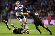 Scotland v New Zealand Saturday 18th November 2017 BT Murrayfield, Edinburgh.<br /> <br /> Sonny Bill Williams of New Zealand Stuart Hogg of Scotland and Waisake Naholo of New Zealand<br /> <br />  Neil Hanna Photography<br /> www.neilhannaphotography.co.uk<br /> 07702 246823