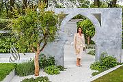 The Al Brari, Beauty of Islam Garden by Kamelia Bin Zaal. RHS Chelsea Flower Show, Chelsea Hospital, London UK, 18 May 2015.