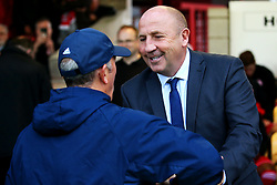 Accrington Stanley manager John Coleman greets West Bromwich Albion manager Tony Pulis - Mandatory by-line: Matt McNulty/JMP - 22/08/2017 - FOOTBALL - Wham Stadium - Accrington, England - Accrington Stanley v West Bromwich Albion - Carabao Cup - Second Round