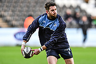 Cardiff Blues' Alex Cuthbert during the pre match warm up<br /> <br /> Photographer Craig Thomas/Replay Images<br /> <br /> Guinness PRO14 Round 13 - Ospreys v Cardiff Blues - Saturday 6th January 2018 - Liberty Stadium - Swansea<br /> <br /> World Copyright © Replay Images . All rights reserved. info@replayimages.co.uk - http://replayimages.co.uk