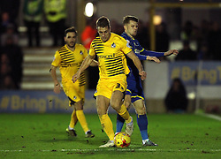 Lee Brown of Bristol Rovers gets past Jake Reeves of AFC Wimbledon - Mandatory byline: Robbie Stephenson/JMP - 07966 386802 - 26/12/2015 - FOOTBALL - Kingsmeadow Stadium - Wimbledon, England - AFC Wimbledon v Bristol Rovers - Sky Bet League Two