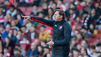 Football - 2018 / 2019 Premier League - Arsenal vs. Southampton<br /> <br /> Ralph Hasenhuttl (Manager of Southampton FC) tries to give his team some direction at The Emirates.<br /> <br /> COLORSPORT/DANIEL BEARHAM