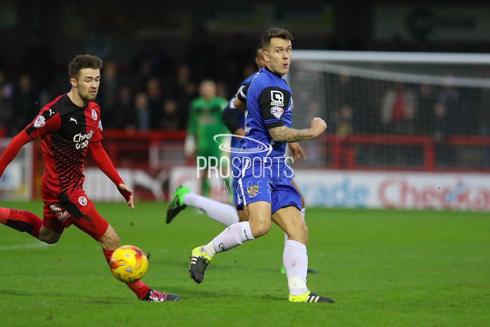 Lee Cox of Stevenage during the Sky Bet League 2 match between Crawley Town and Stevenage at the Checkatrade.com Stadium, Crawley, England on 26 December 2015. Photo by Phil Duncan.
