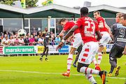 UITGEEST - 09-07-2016, AZ - FC Volendam, Complex FC Uitgeest, AZ speler Wout Weghorst kopt het eerste doelpunt voor AZ binnen, scoort. ( ook zijn eerste doelpunt voor AZ )