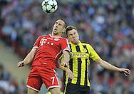 UEFA Champions League final football match between Borussia Dortmund and Bayern Munich at Wembley Stadium in London on May 25, 2013, Bayern Munich won the game 2-1 <br />Franck Ribery of Bayern Munich<br />(Photo by: Piotr Hawalej)
