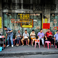 Eating street food, Chinatown, Bangkok, Thailand. Copyright 2015 Terence Carter / Grantourismo. All Rights Reserved.