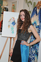ERIN PESTON at a party to celebrate the beginning of Summer 2012 and featuring illustartions by Erin Peston alongside the latest collection of swimwear and beach accessories held at Biondi, 55b Old Church Street, London SW3 on 24th May 2012.
