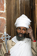 Priest at the St. Neakutoleab Monastery, Lalibela, Ethiopia.