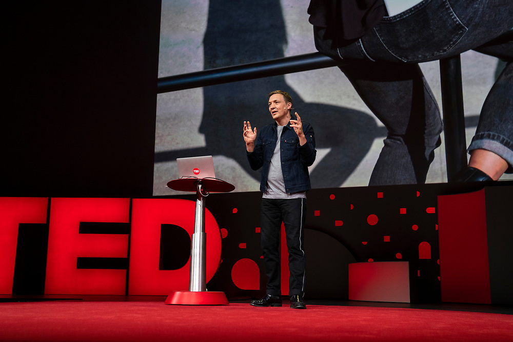 Ivan Poupyrev speaks at TED2019: Bigger Than Us. April 15 - 19, 2019, Vancouver, BC, Canada. Photo: Bret Hartman / TED