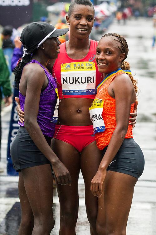BAA 10K: top three women Kiplagat, Nukuri, Wacera