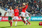 England forward Callum Wilson controls the ball in the box  during the UEFA European 2020 Qualifier match between Bulgaria and England at Stadion Vasil Levski, Sofia, Bulgaria on 14 October 2019.