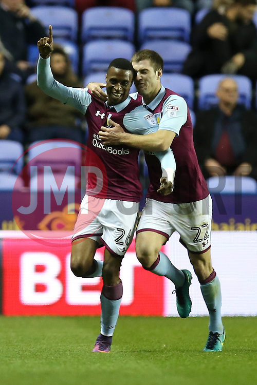 Goal, Jonathan Kodjia of Aston Villa scores, Reading 0-1 Aston Villa - Mandatory by-line: Jason Brown/JMP - 18/10/2016 - FOOTBALL - Madejski Stadium - Reading, England - Reading v Aston Villa - Sky Bet Championship