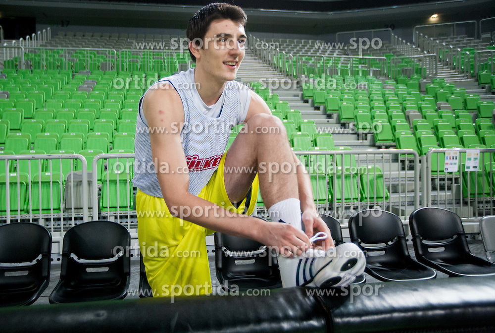 Emir Preldzic during practice session of Fenerbahce Ulker Istanbul (TUR) a day before Euroleague Basketball match against Union Olimpija Ljubljana on October 18, 2012 in Arena Stozice, Ljubljana, Slovenia. (Photo By Vid Ponikvar / Sportida)