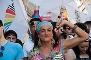 Roma 23 Giugno 2012.GayPride 2012.La Sfilata del Gay pride, la giornatà dell' orgoglio omossessuale per le vie della città..Vladimir Luxuria