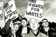 British National Party 'Rights for Whites' demo in East London 1990