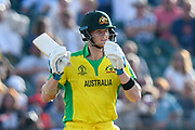 Steve Smith of Australia during the ICC Cricket World Cup 2019 match between Afghanistan and Australia at the Bristol County Ground, Bristol, United Kingdom on 1 June 2019.