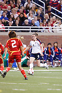 (9 US) Heather O'Reilly & (2 China) Yuan Fan. US Women National Team vs. China. US 1 China 0