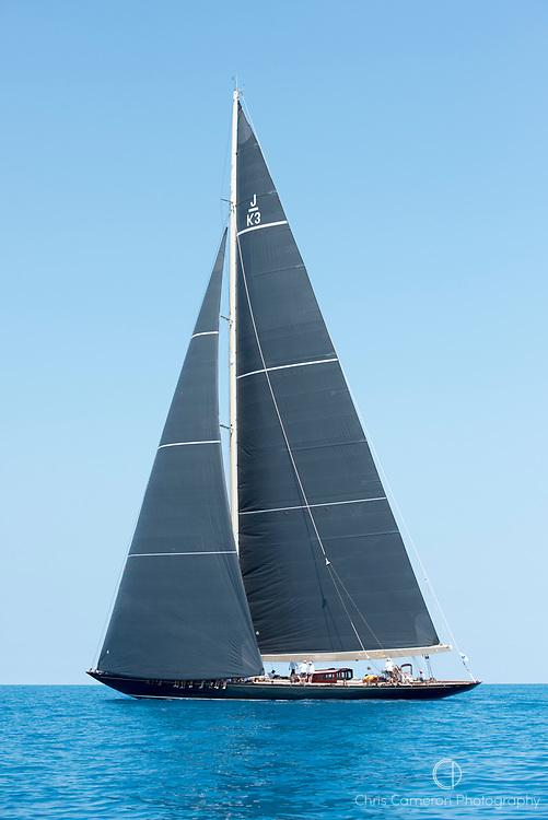 Bermuda, 16th June 2017. America's Cup J Class regatta. Shamrock V, JK3