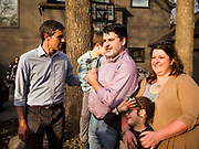 """06 APRIL 2019 - DES MOINES, IOWA:  BETO O'ROURKE talks with supporters after a campaign event in Des Moines. O'Rourke held a series of """"house parties"""" in Des Moines Saturday as a part of his 2020 campaign to be the Democratic nominee for the US Presidential election. He is crisscrossing Iowa through the weekend with stops throughout the state. Iowa holds its caucuses, considered the kickoff of the US Presidential campaign, on Feb. 3, 2020.    PHOTO BY JACK KURTZ"""