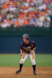 Virginia Cavaliers infielder Patrick Wingfield (8).  The Virginia Cavaliers defeated the Oregon State Beavers 7-4 in 13 innings during Game 4 of the NCAA World Series Regionals held at Davenport Field in Charlottesville, VA on June 2, 2007.