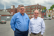 From left, Kevin Murphy, President of Berks County Community Foundation and Jason Brudereck, Director of Communication for Berks County Community Foundation speak about the work their organization is doing in the county Wednesday, May 15, 2019 in Reading, Pennsylvania. WILLIAM THOMAS CAIN / For The Inquirer