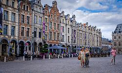 Cafes in Heroes Square (Place des Héros) in Arras, France<br /> <br /> (c) Andrew Wilson | Edinburgh Elite media