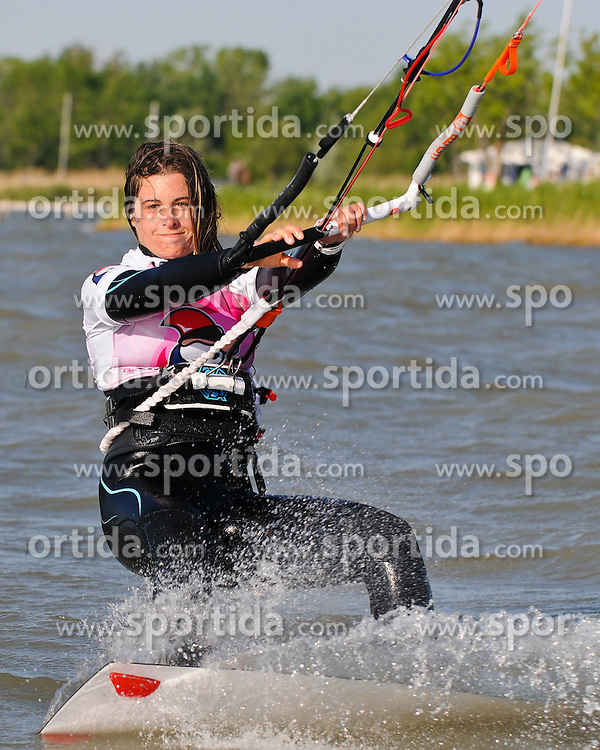 07.05.2011, Strandbad Podersdorf am See, Burgenland, AUT, Surfworldcup, im Bild Gisela Pulido (Kiteboarding.eu) // during surfworldcup at podersdorf, AUT, burgendland, lido podersdorf, 05-07-2011,  EXPA Pictures © 2011, PhotoCredit: EXPA/ M. Gruber