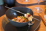 Sylt, Germany. List. Spa Resort A-Rosa Sylt. Spices Restaurant. Amuse bouche.