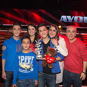 NLD/Hilversum/20140221 - Finale The Voice Kids 2014, Ayoub Haach met familie
