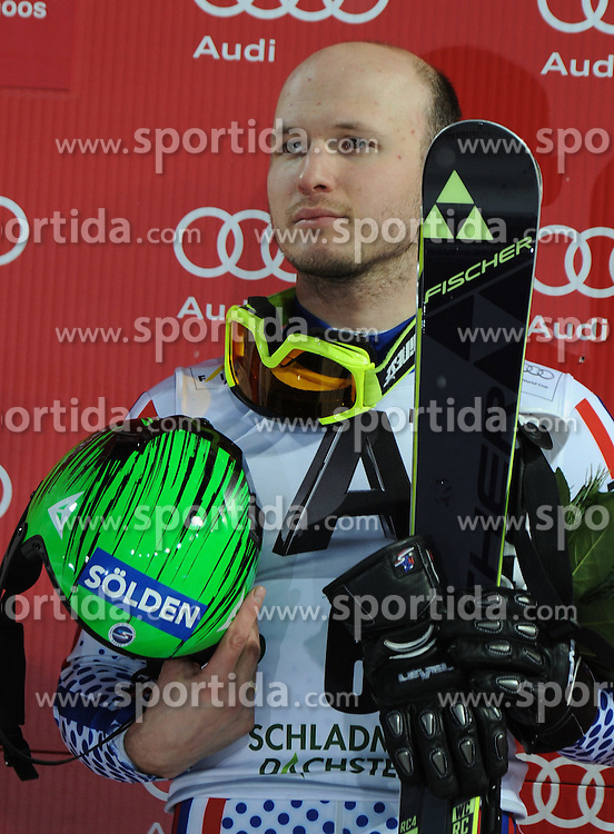 27.01.2015, Planai, Schladming, AUT, FIS Weltcup Ski Alpin, Kitzbuehel, Herren, Slalom, Siegerehrung, im Bild Alexander Khoroshilov of Russia // during the winner award Ceremony of the men' s slalom of Schladming FIS Ski Alpine World Cup at the Planai in Schladming, Austria on 2015/01/27. EXPA Pictures © 2015, PhotoCredit: EXPA/ Erich Spiess