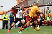 Jonny Hayes makes a superb run during the Ladbrokes Scottish Premiership match between Motherwell and Aberdeen at Fir Park, Motherwell, Scotland on 15 August 2015. Photo by Craig McAllister.