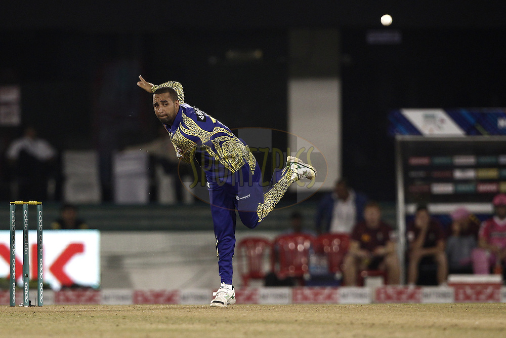 Justin Ontong captain of Cape Cobras during match 3 of the Oppo Champions League Twenty20 between the Cape Cobras and the Northern Knights held at the Chhattisgarh International Cricket Stadium, Raipur, India on the 19th September 2014<br /> <br /> Photo by:  Deepak Malik / Sportzpics/ CLT20<br /> <br /> <br /> Image use is subject to the terms and conditions as laid out by the BCCI/ CLT20.  The terms and conditions can be downloaded here:<br /> <br /> http://sportzpics.photoshelter.com/gallery/CLT20-Image-Terms-and-Conditions-2014/G0000IfNJn535VPU/C0000QhhKadWcjYs