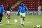 Forest Green Rovers Isaiah Osbourne(34) warming up during the EFL Sky Bet League 2 match between Crewe Alexandra and Forest Green Rovers at Alexandra Stadium, Crewe, England on 20 March 2018. Picture by Shane Healey.