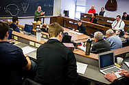 John T. Pless, assistant professor of pastoral ministry and missions, teaches a class to pastors on Monday, Jan. 20, 2014, at Concordia Theological Seminary in Fort Wayne, Ind. LCMS Communications/Erik M. Lunsford